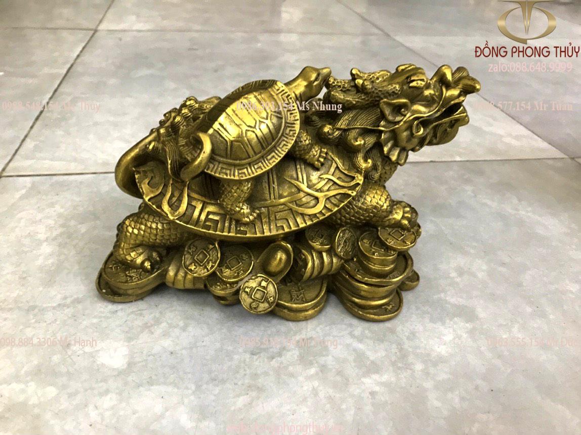 Tượng long quy rùa đầu rồng bằng rồng