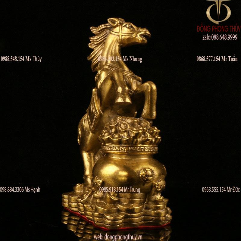 Tượng ngựa hũ tiền phong thủy bằng đồng