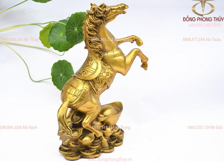 Tượng ngựa phong thủy bằng đồng cao 14cm