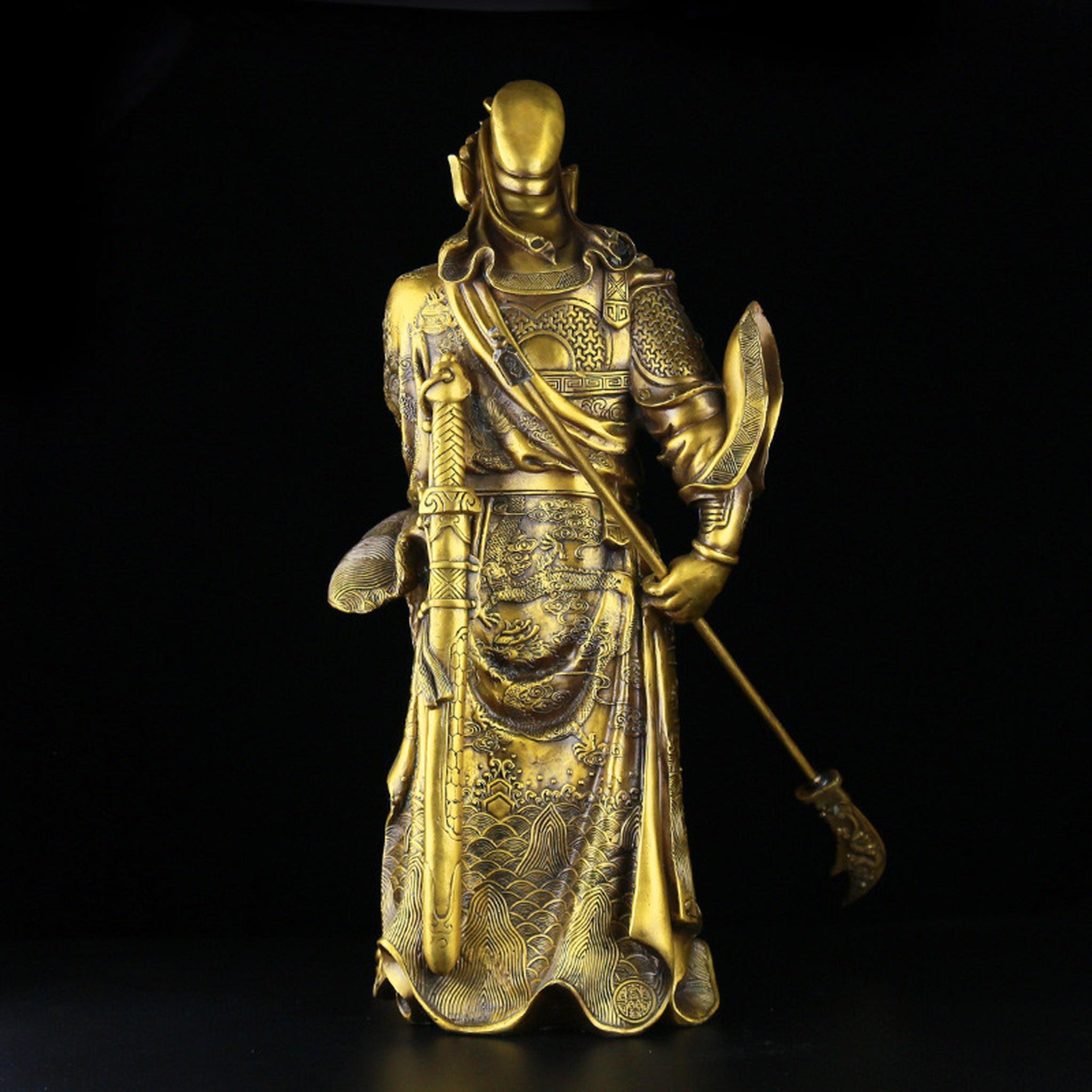 Tượng quan công trấn ải bằng đồng cao 60cm nặng 11,5kg