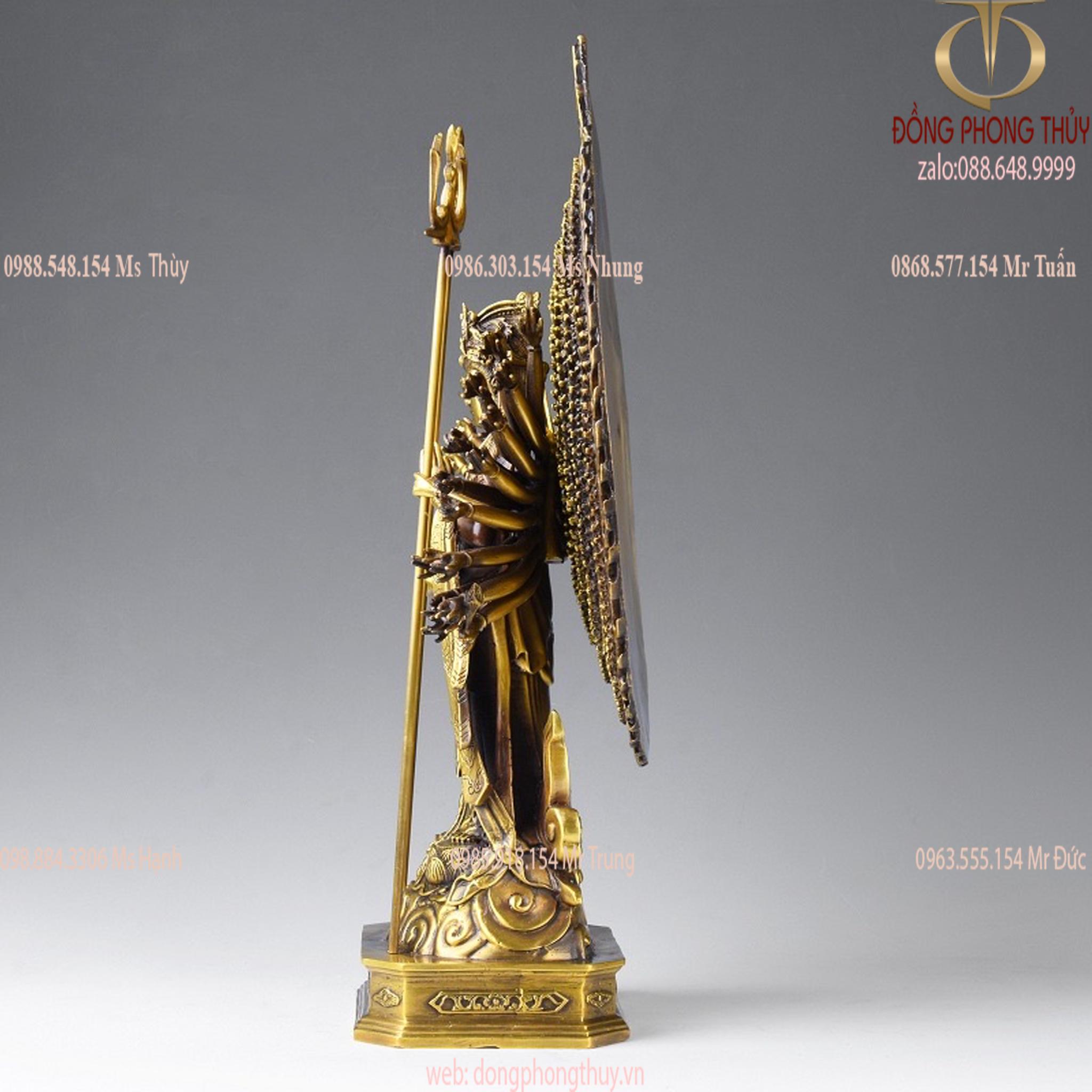 Tượng Thiên Thủ Thiên Nhãn đứng bằng đồng