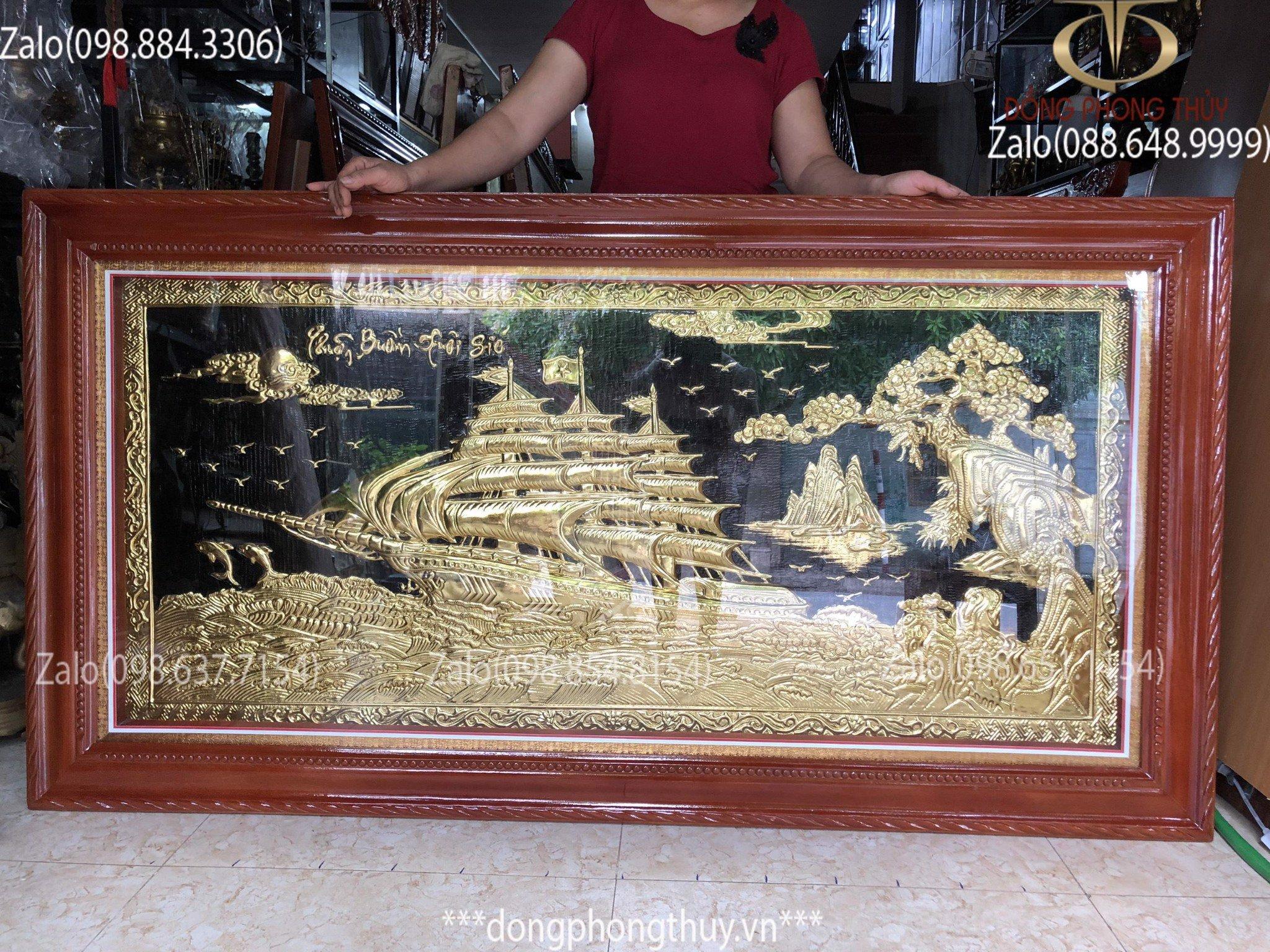 Tranh đồng Thuận Buồm Xuôi Gió 90*1m7