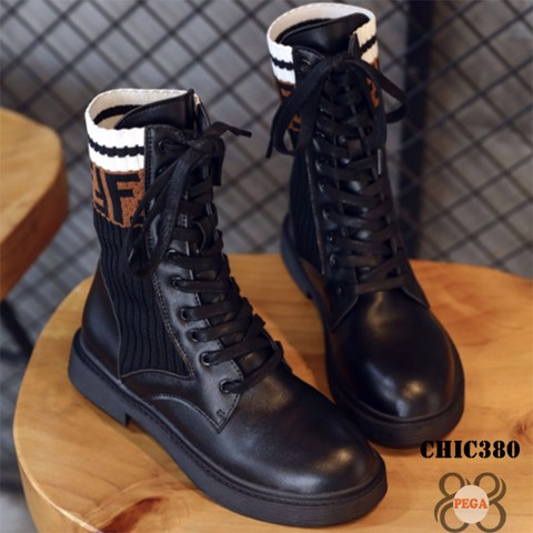 Giày Boot 5cm CHIC380