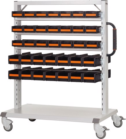 Xe đẩy đựng dụng cụ. Workstation trolley, equipped with GARANT open storage bins . Code: 3.04.400.0392 | www.thietbinhapkhau.com | Công ty PQ