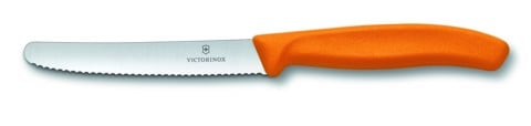 Victorinox Tomato and sausage knives (wavy edge) orange