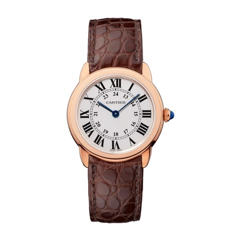 Cartier Ronde Solo De Cartier 29mm Pink Gold Leather