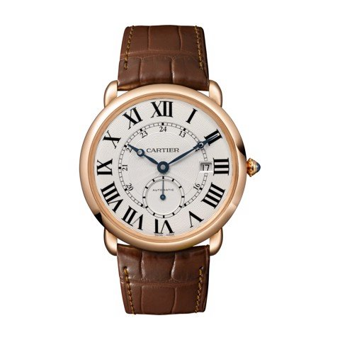 Cartier Ronde Louis Cartier 40mm Pink Gold Leather