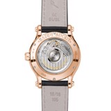 Chopard Happy Sport Automatic Diamond Rose Gold Black Leather Strap MOP 36mm