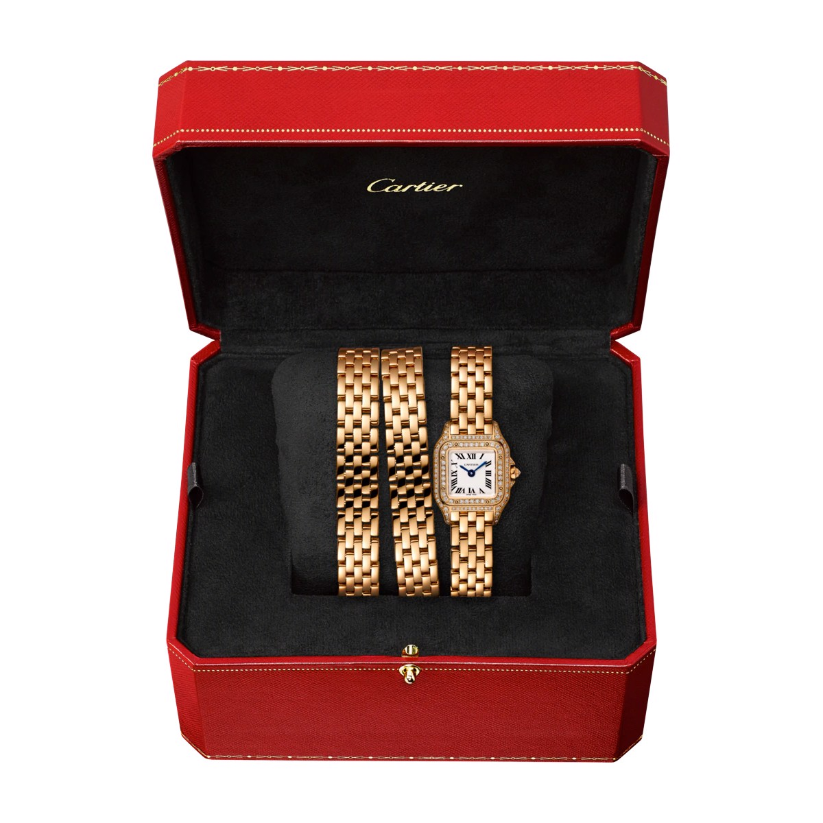 Cartier Panthère de Cartier Triple Loop Mini Pink Gold Diamonds