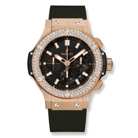 Hublot Big Bang Chronograph Gold Diamonds 44mm
