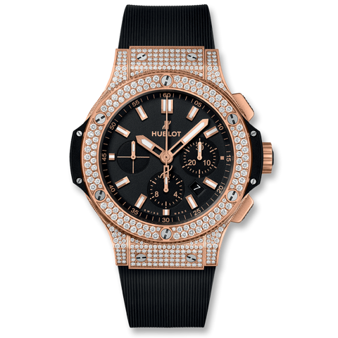 Hublot Big Bang Chronograph Gold Pavé 44mm