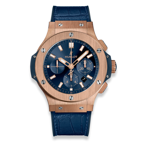 Hublot Big Bang Chronograph Gold Blue 44mm