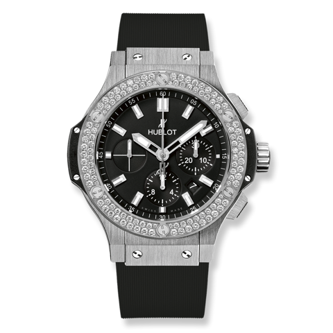 Hublot Big Bang Chronograph Steel Diamonds 44mm