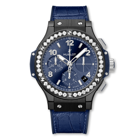 Hublot Big Bang Chronograph Ceramic Blue Diamonds 41mm