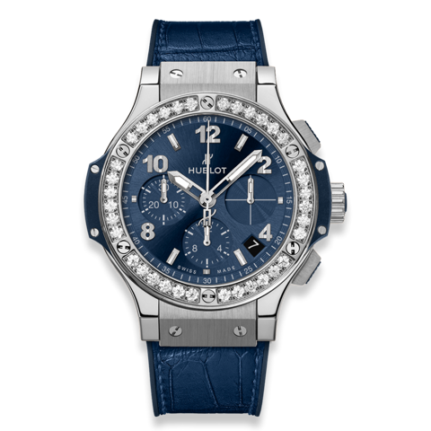 Hublot Big Bang Chronograph Steel Blue Diamonds 41mm