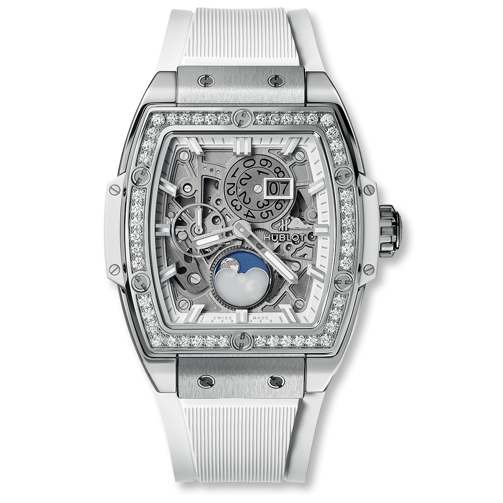 Hublot Spirit Of Big Bang Moonphase Titanium White Diamonds