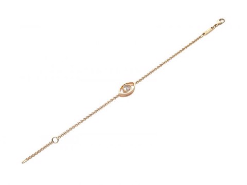 Chopard Good Luck Charms Bracelet Rose Gold Diamond