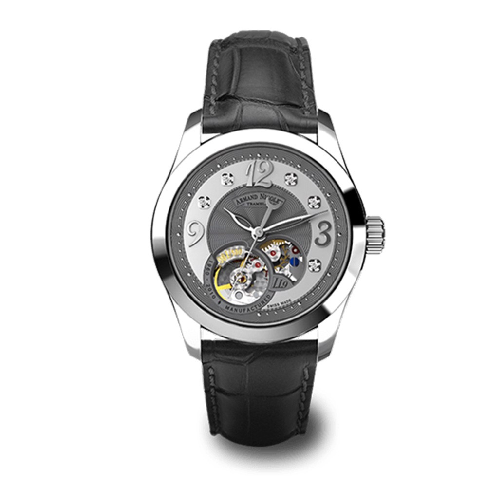 Đồng hồ nữ Armand Nicolet LL9 Steel 316L with Black Alligator Strap Ladies Watch 34mm