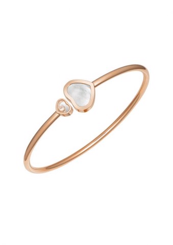 Chopard Happy Hearts Bangle Rose Gold Diamond - Natural MOP