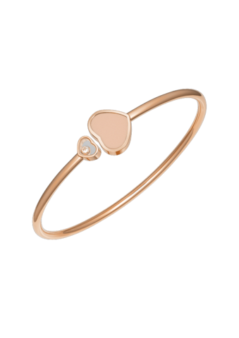 Chopard Happy Hearts Bangle Rose Gold Diamond - Rosé Stone