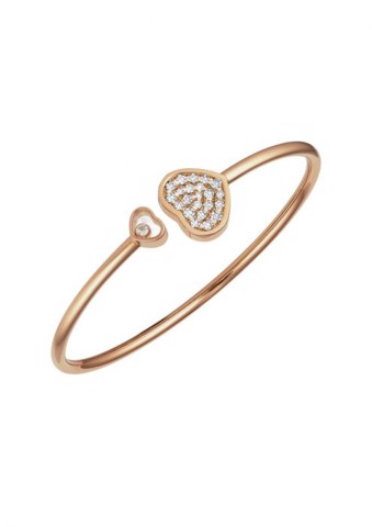 Chopard Happy Hearts Bangle Rose Gold Diamond