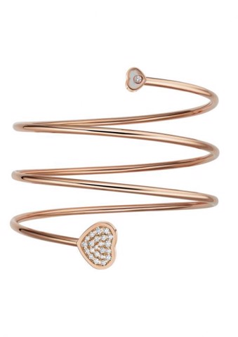 Chopard Happy Heart Twist Bangle Rose Gold Diamond
