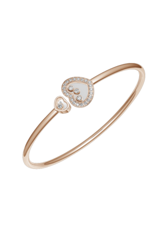 Chopard Happy Diamonds Icons Heart Bangle Rose Gold Diamond
