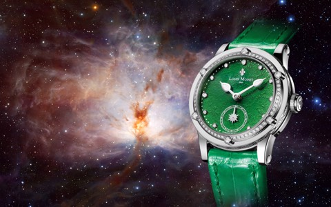 Đồng hồ nữ Louis Moinet Skydance Magic Green Bezel set with Diamonds 36mm