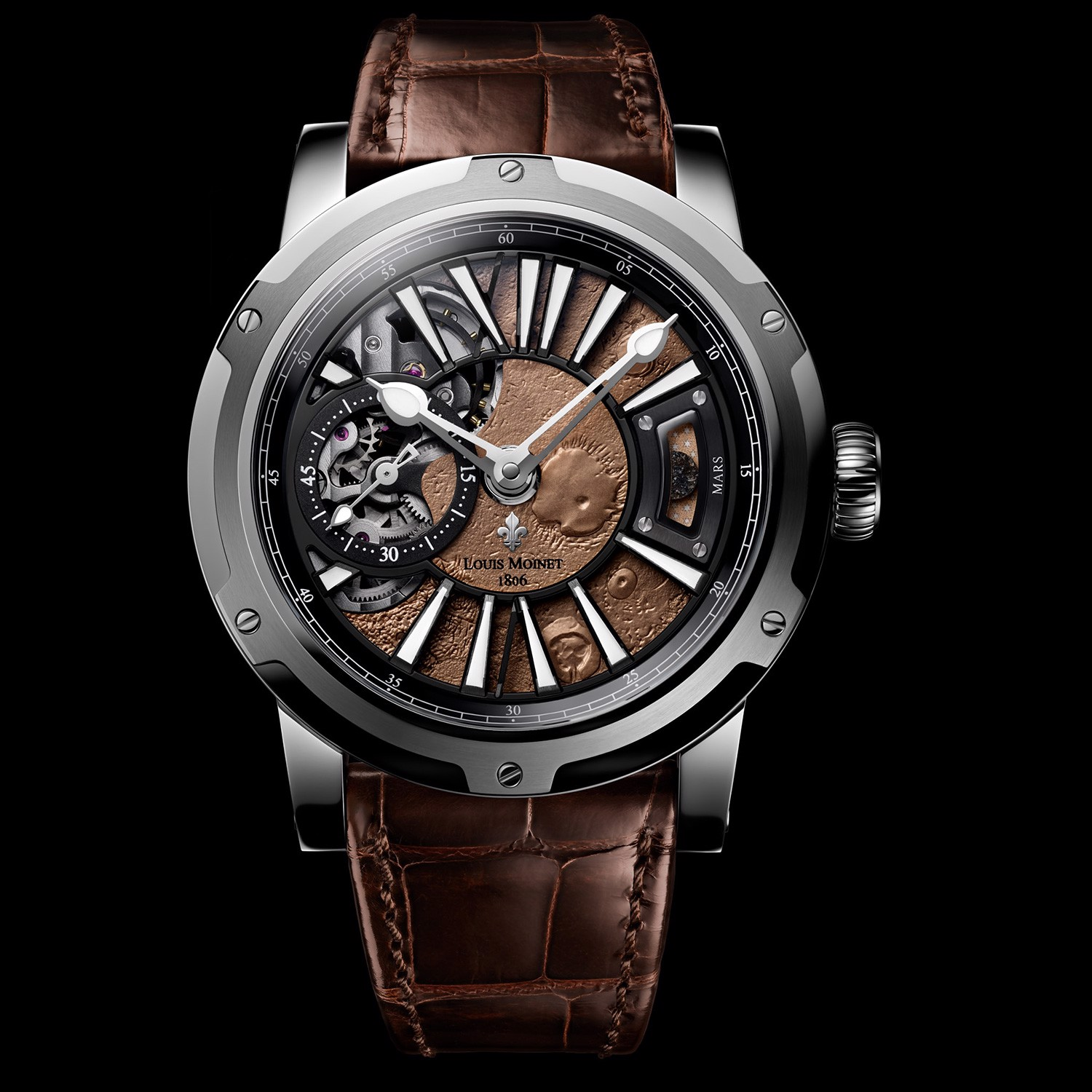 Louis Moinet Mars Steel Limited Edition 43mm