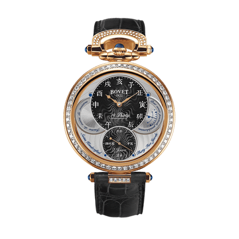 Đồng hồ nam Bovet 19Thirty Fleurier Black Dial 18k Red Gold set with diamonds 42mm