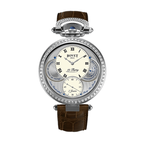 Đồng hồ nam Bovet 19Thirty Fleurier White Dial set with Diamonds 42mm