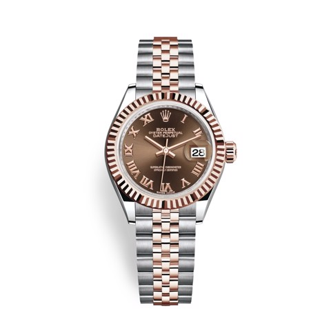 Rolex Lady Datejust 28mm Stainless Steel and Everose Gold 279171-0009
