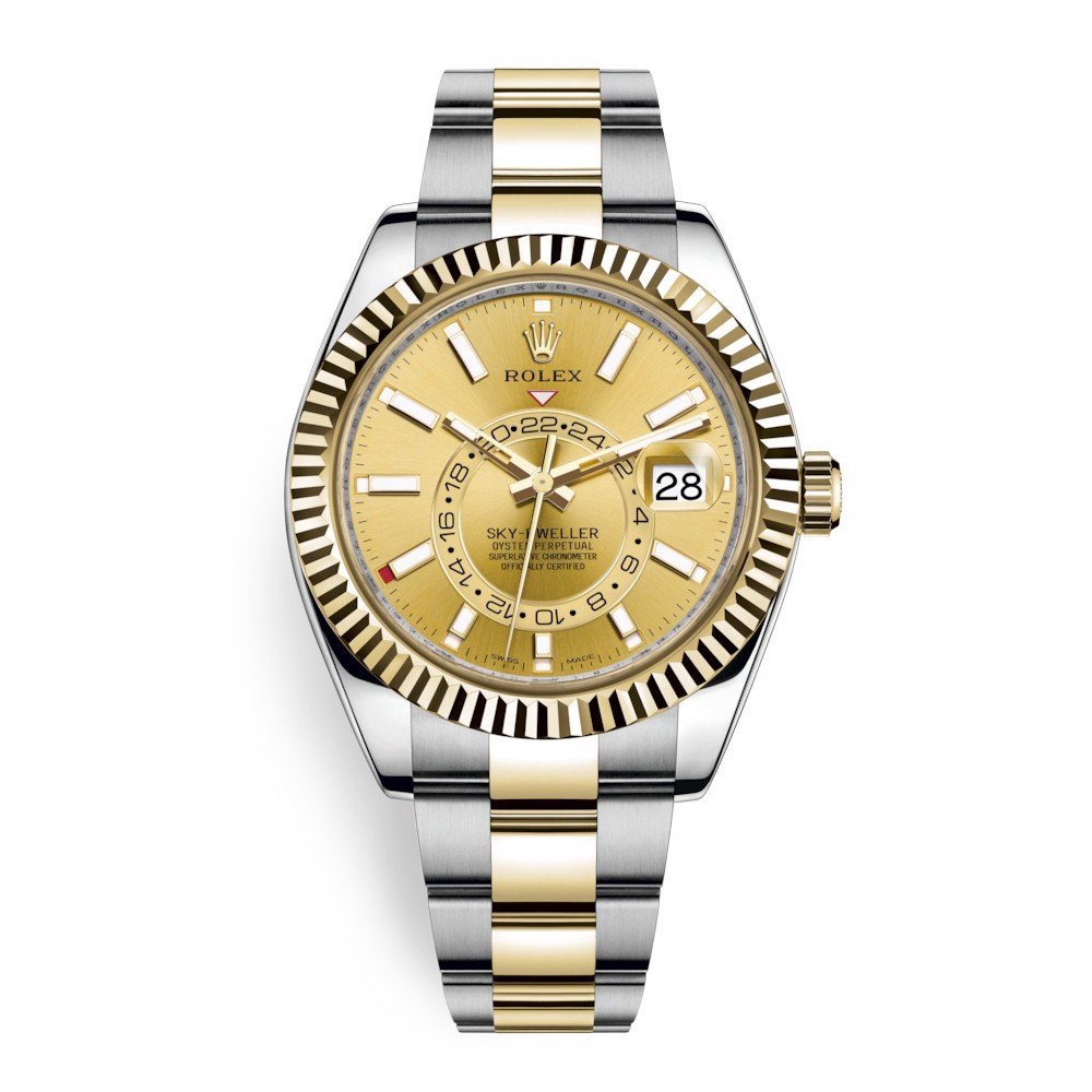 Rolex Sky Dweller 42mm Champagne Index 326933-0001