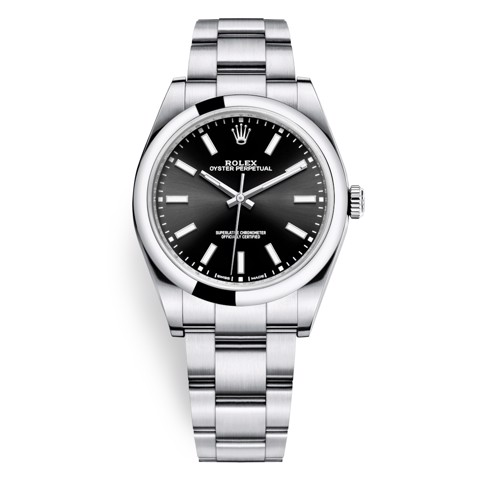 Rolex Oyster Perpetual 39mm Black Oyster 114300-0005