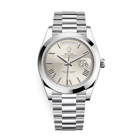 Rolex Day-Date 40mm Platinum Silver 228206-0014