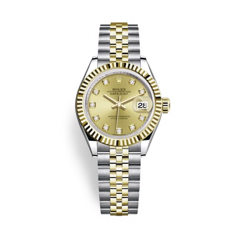 Rolex Lady Datejust 28mm Stainless Steel and Yellow Gold 279173-0011