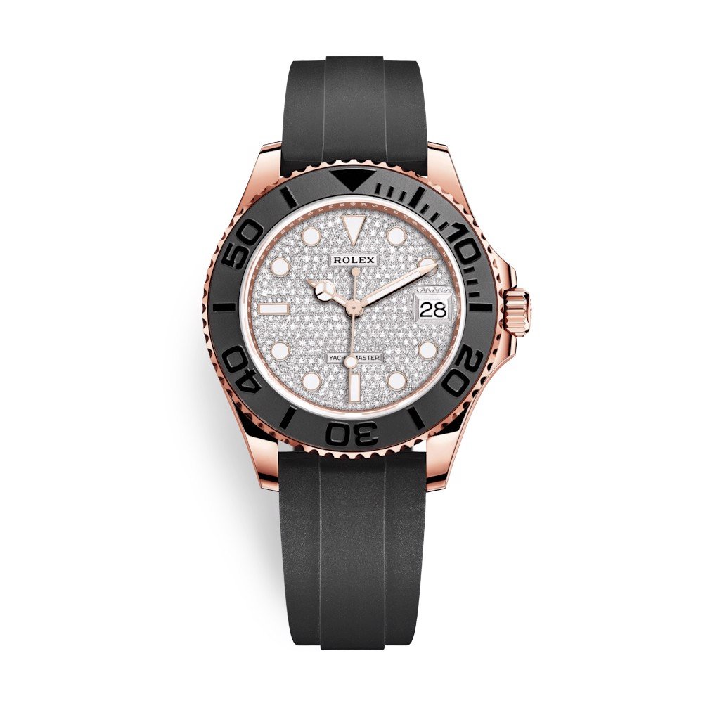 Rolex Yacht-Master 37mm Rose Gold Diamonds 268655-0007