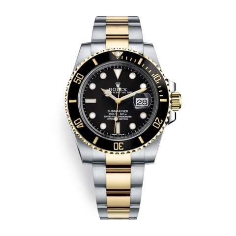 Rolex Submariner Date 40mm Stainless Steel and Gold Black 116613LN-0001