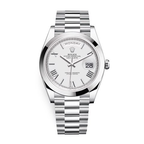 Rolex Day-Date 40mm Platinum White 228206-0028