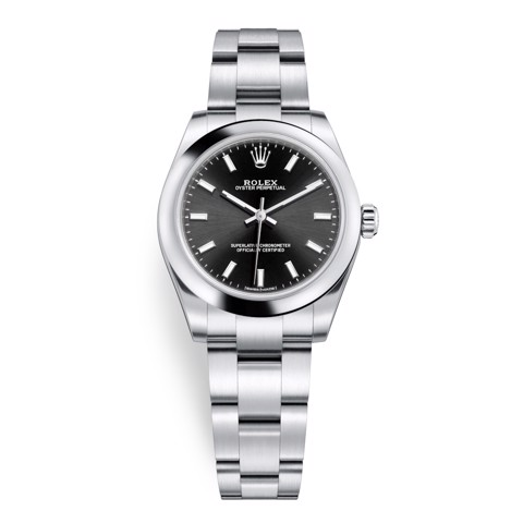 Rolex Oyster Perpetual 31mm Black 177200-0019