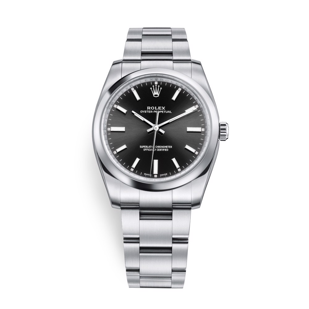Rolex Oyster Perpetual 34mm Black 114200-0023
