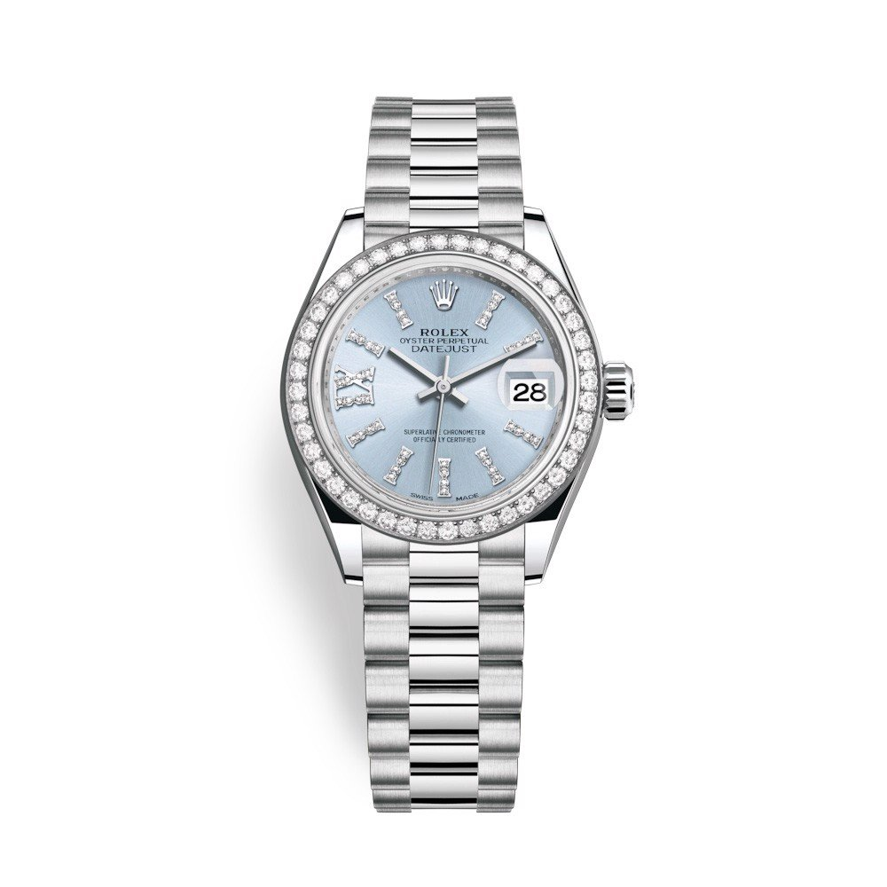 Rolex Lady Datejust 28mm Platinum Diamonds 279136RBR-0001