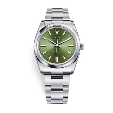 Rolex Oyster Perpetual 34mm Olive Green 114200-0021