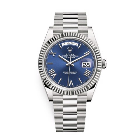 Rolex Day-Date 40mm White Gold Blue 228239-0007