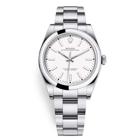 Rolex Oyster Perpetual 39mm White Oyster 114300-0004