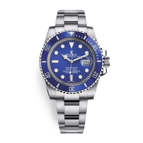 Rolex Submariner Date 40mm White Gold Blue 116619LB-0001