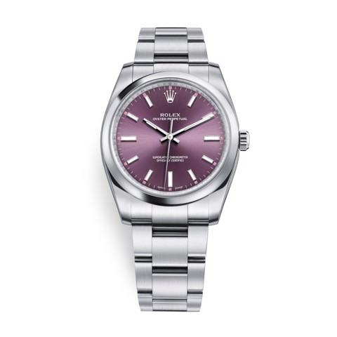 Rolex Oyster Perpetual 34mm Red Grape 114200-0020