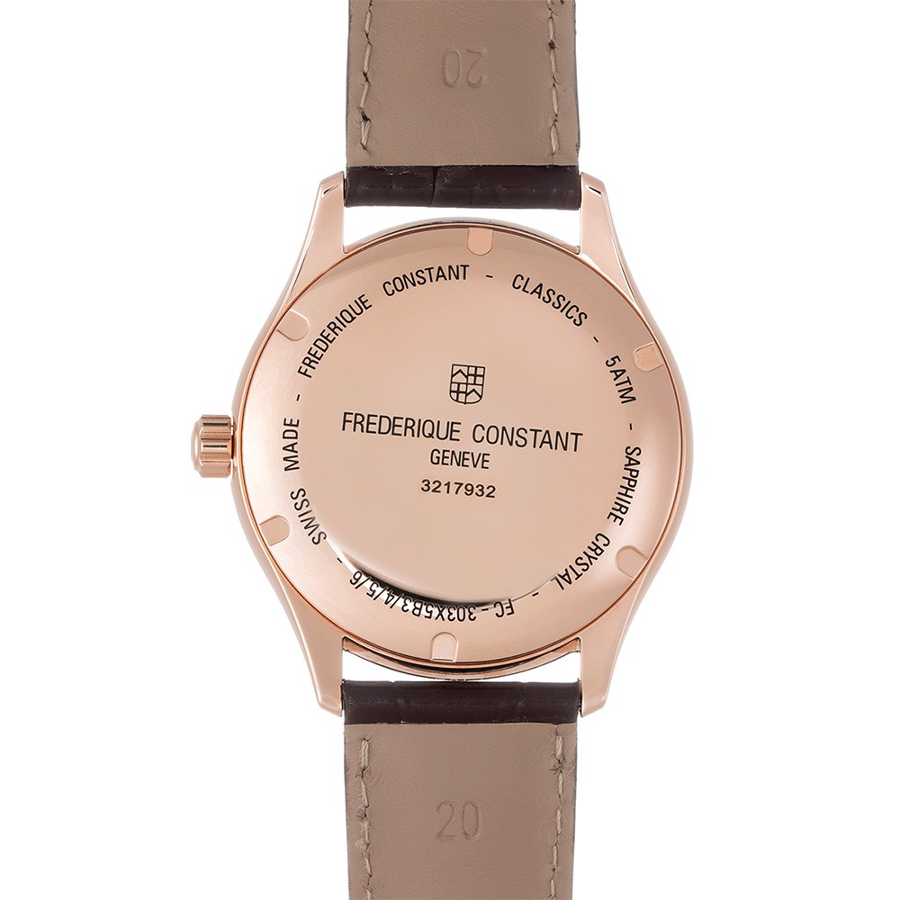 Đồng hồ nam Frederique Constant Classics Index Leather Strap Mens Watch 40mm