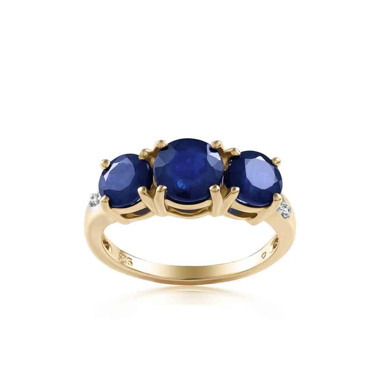 Nhẫn kim cương Trio-Sapphire