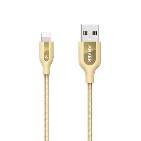 Cáp Sạc Siêu Bền PowerLine+ Lightning (6ft/1.8m) Golden with Offline Packaging V3 with Pouch
